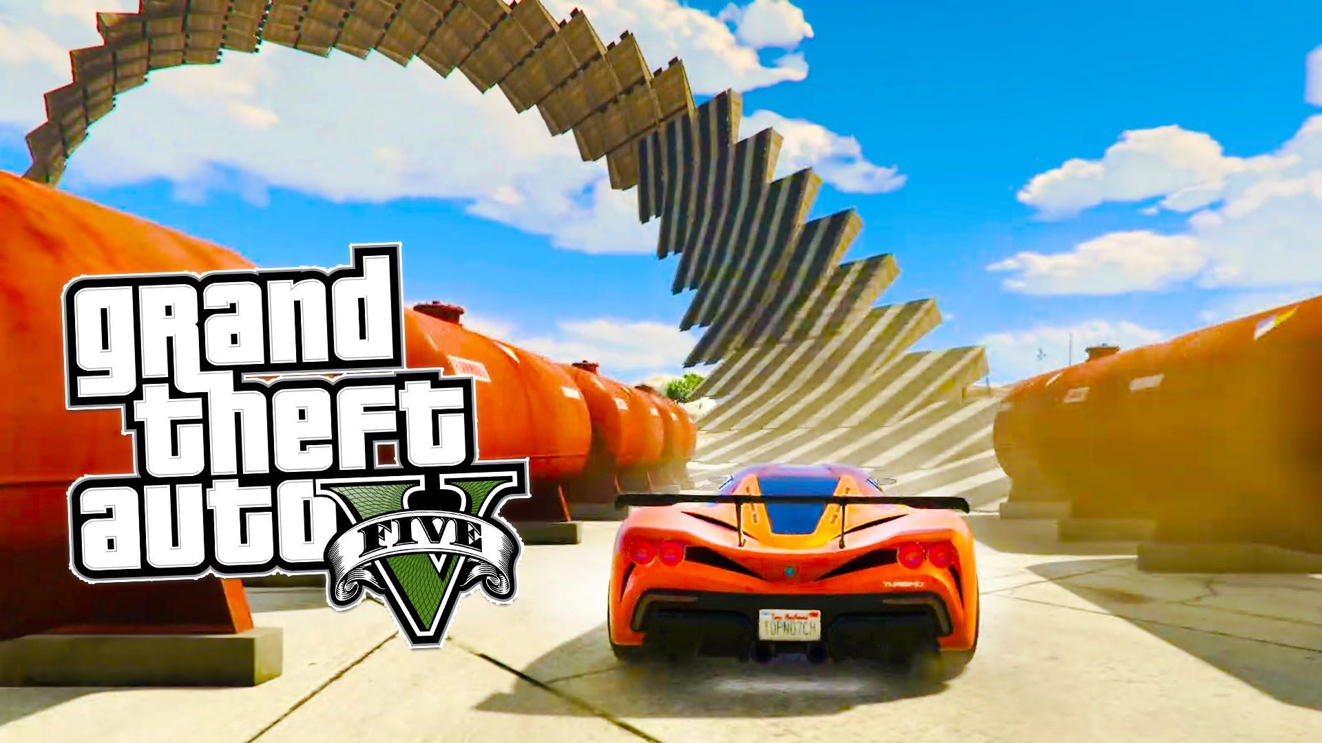 GTA 5 EPIC 360 Inverted Spiral Stunt Race & MORE Awesome GTA