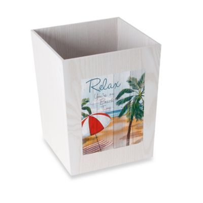 Wooden Wastebasket Bed Bath & Beyond Beach Time Wood Wastebasket  Woods And Beach
