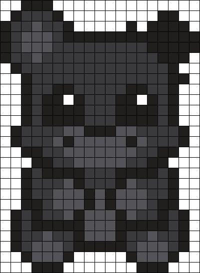 Shadow Freddy Perler Bead Pattern Bead Sprite Perler