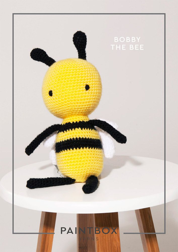 Bobby the Bee in Paintbox Yarns - FREE crochet toy pattern! | moldes ...