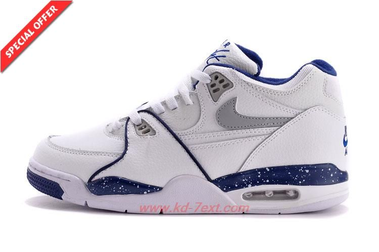 various colors be6bb 69ead Nike Air Flight 89 306252-114 White Blue Leather Mens