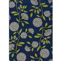 Blue/Green Floral Outdoor Area Rug (3'10 x 5'6) | Overstock.com. $50