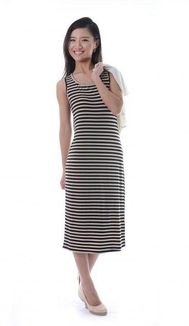 Suzy Striped Midi