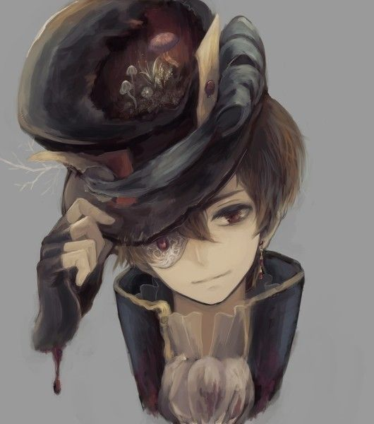 Steam Punk Anime Boy Mad Hatter Anime Boy Anime Fanart Anime
