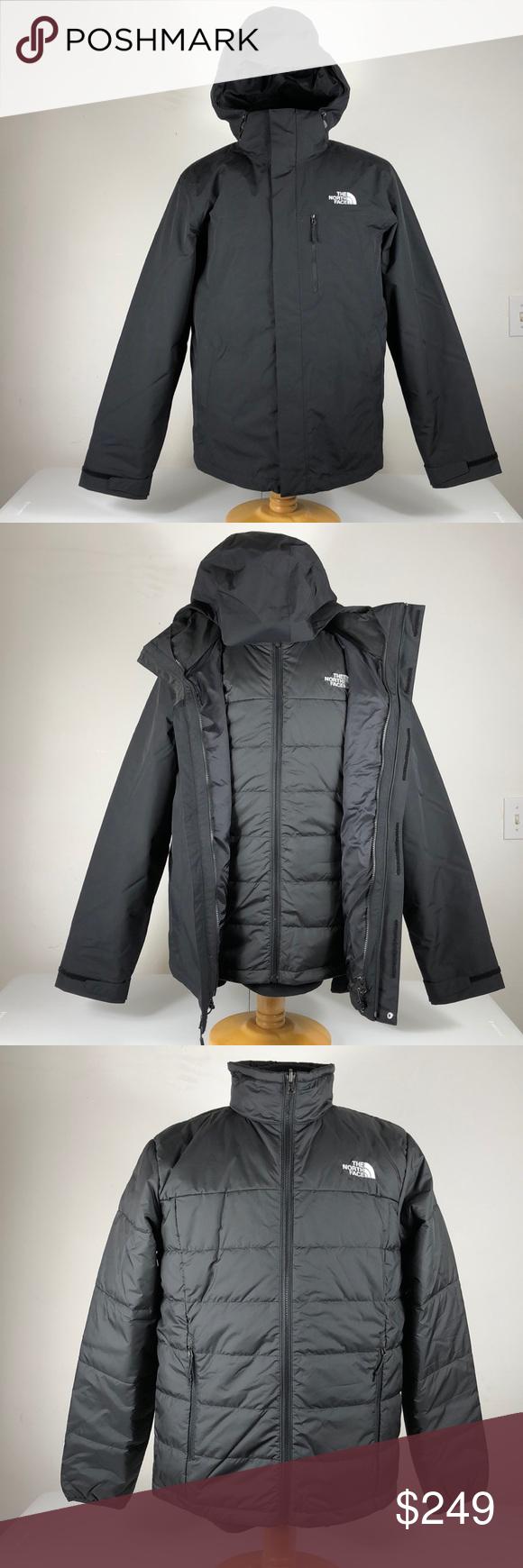 Men S Black North Face Carto Tri Climate Jacket Black North Face Jackets Triclimate Jacket [ 1740 x 580 Pixel ]