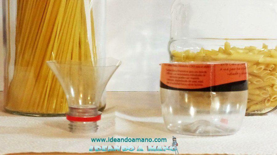C mo hacer medidores de pasta reciclando botellas de for Ideas para cocinar pasta