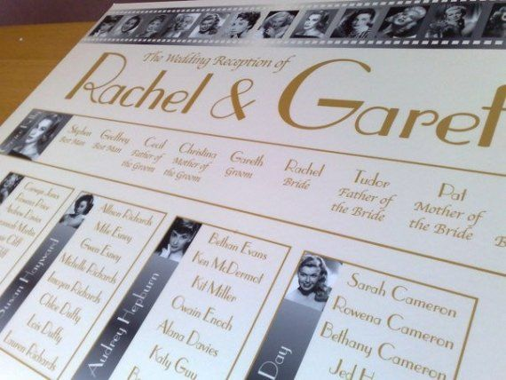 Loving this idea! Wedding Table Seating Plan A2 your choice by ...