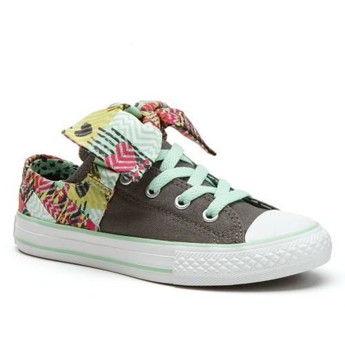 cheap for discount a388b 611d5  40.00 Converse Grey All Star Betty Bow Sneakers for Girls