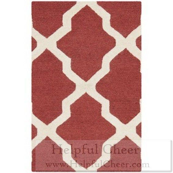 Safavieh Handmade Moroccan Cambridge Rust Ivory Wool Rug 2 x27 x 3 x27 Free shipping at Oversto