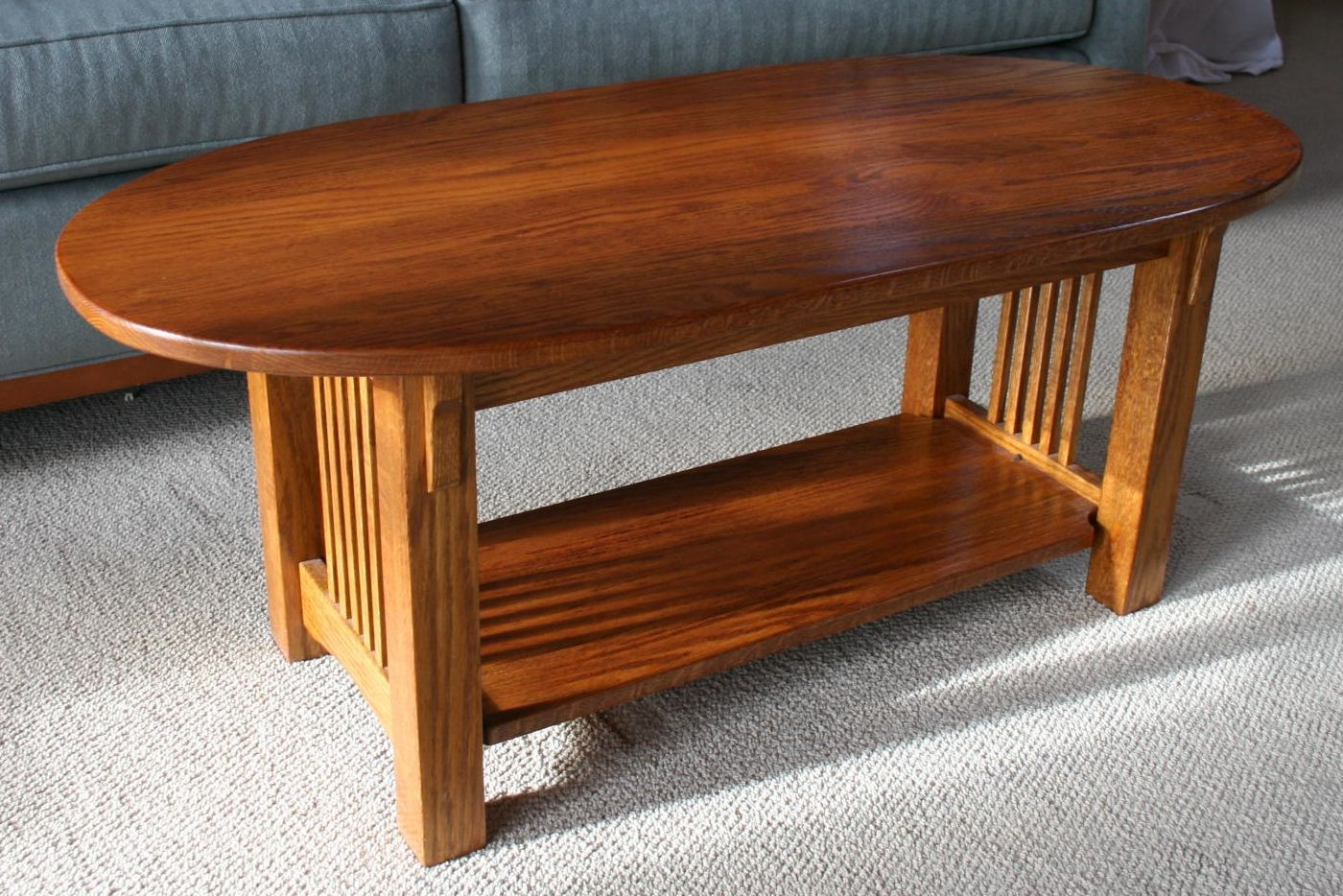 Mission Oak Oval Coffee Table Google Search Transitional
