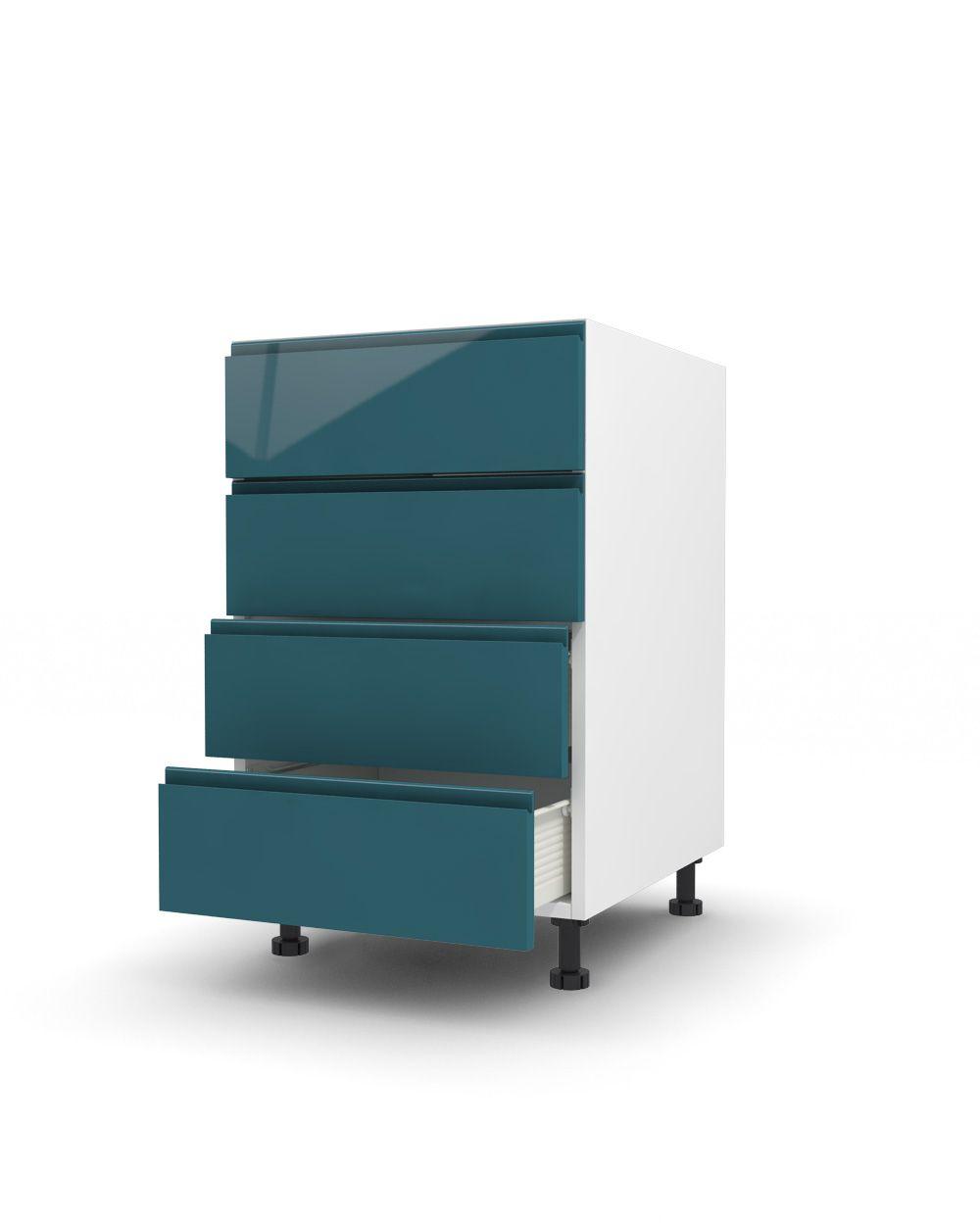 Drawer unit with 4 drawers Harlem CS-170 Glossy Kitchen floor ...