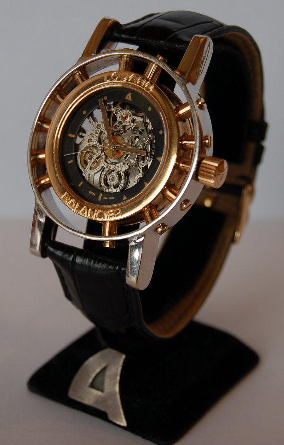 Handmade gold 18k  watch Louann Balancier by loukasmainas on Etsy