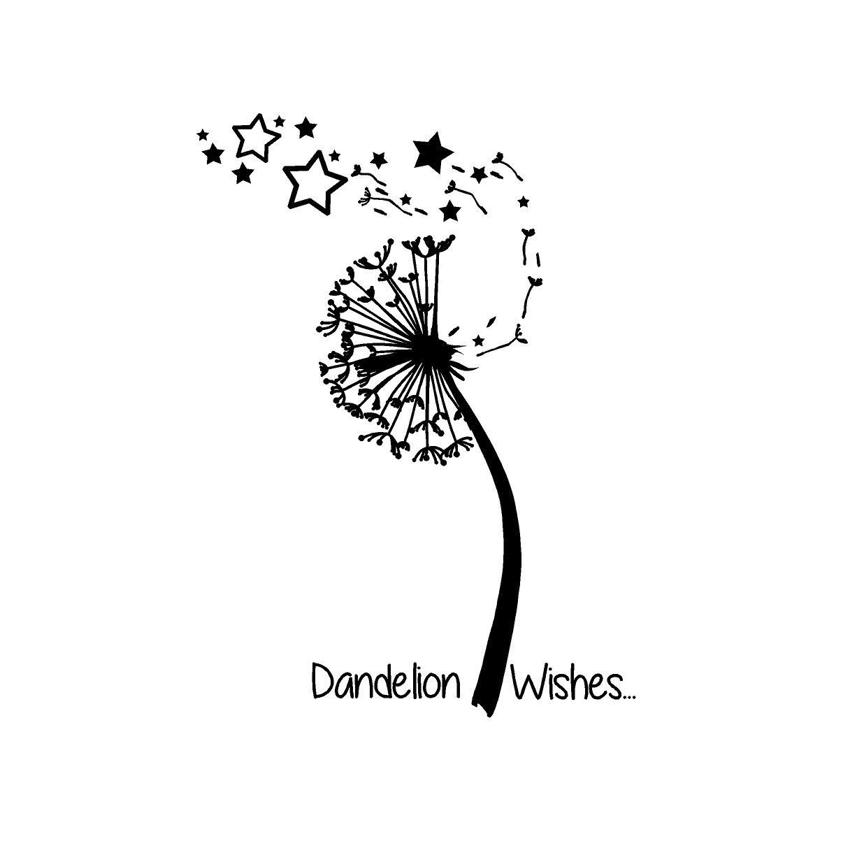 Dandelion wish car decals vinyl decals silhouette cameo projects custom vinyl