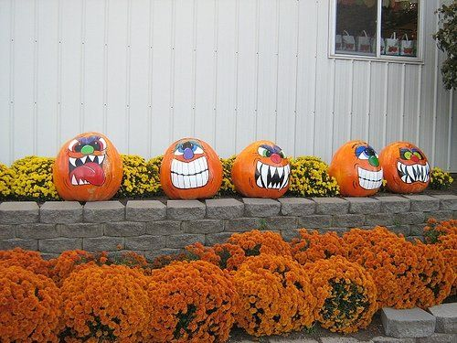 Painted Pumpkins Holidays and Seasons Pinterest Halloween - halloween pumpkin decorations