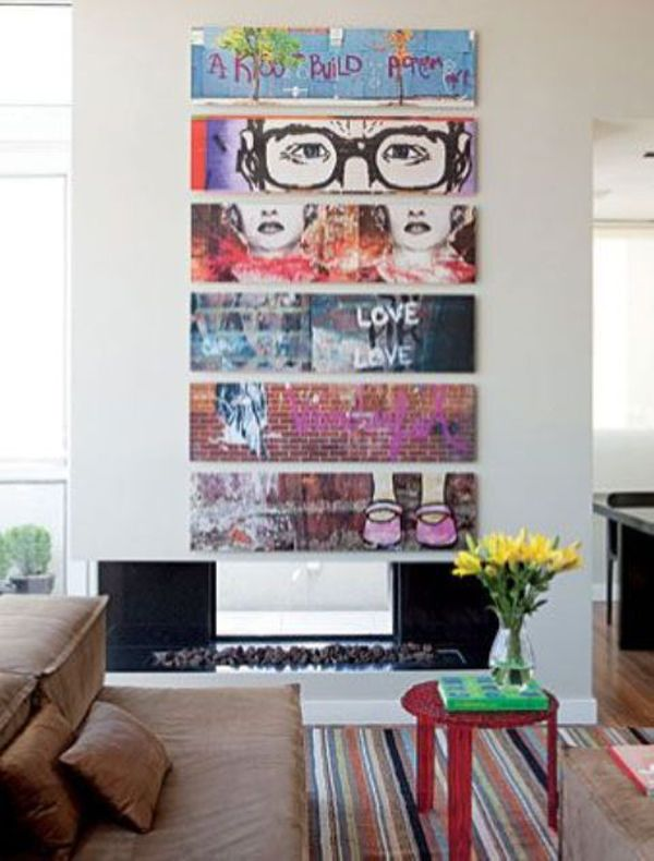 Great Graffiti Living Room Design Nice Look