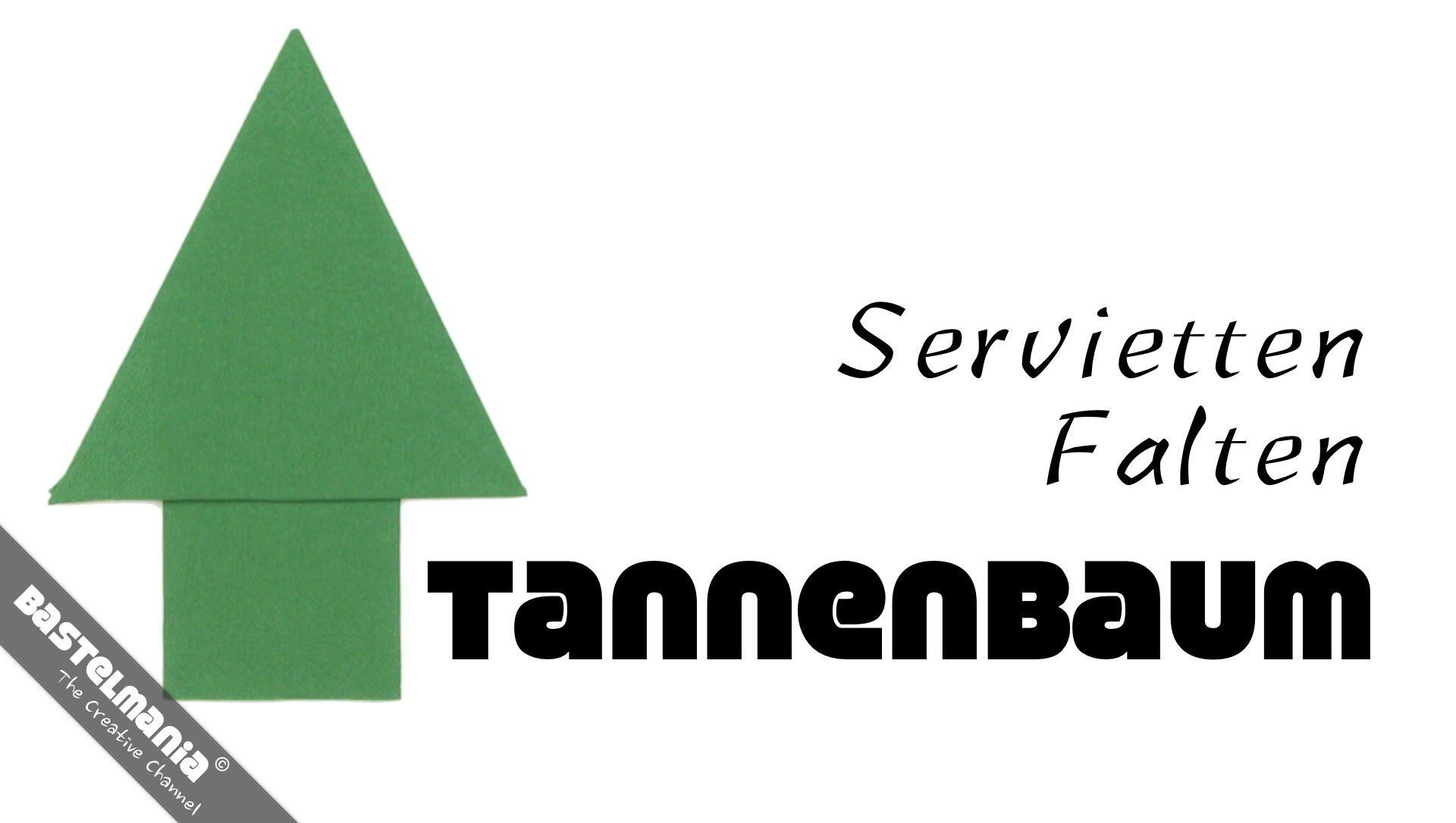 servietten falten anleitung tannenbaum diy napkin folding. Black Bedroom Furniture Sets. Home Design Ideas
