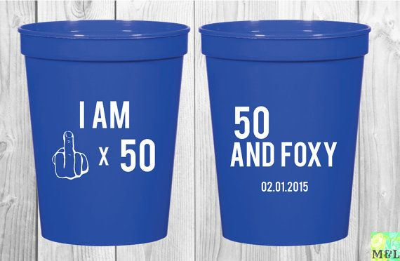 Fifty stands for FOXY! Celebrate your 50th #birthdayparty in style - ba stands for