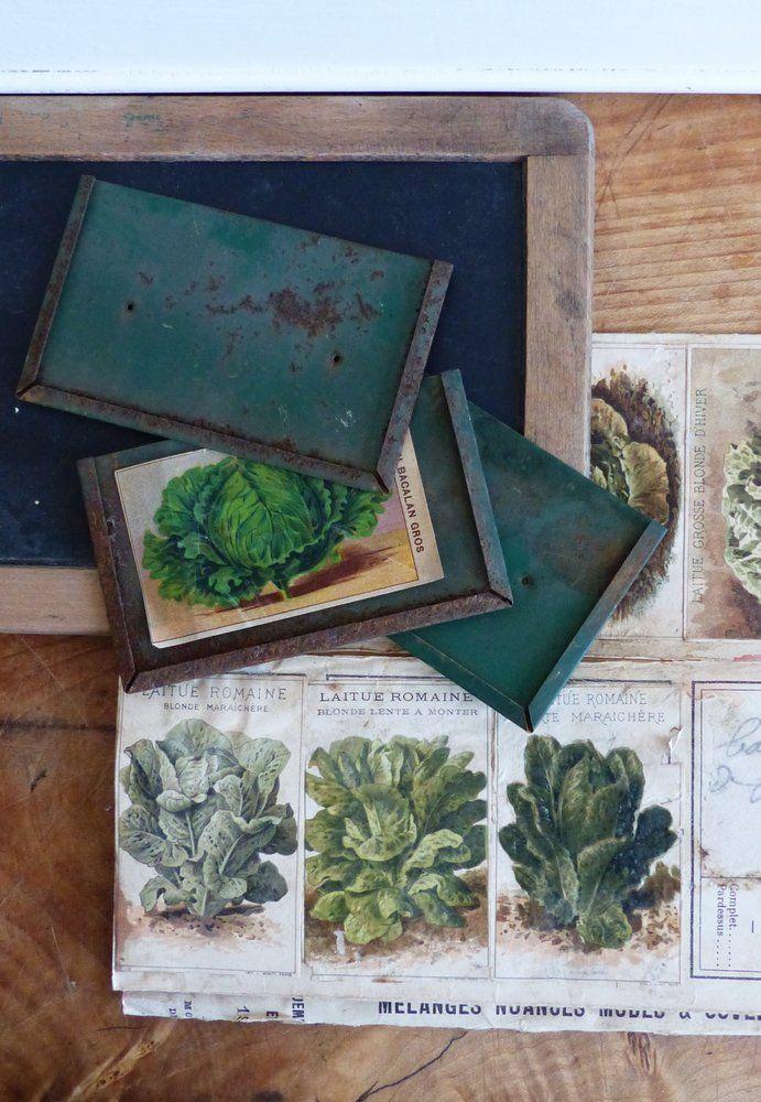 Image of Anciens porte-étiquettes de jardinier