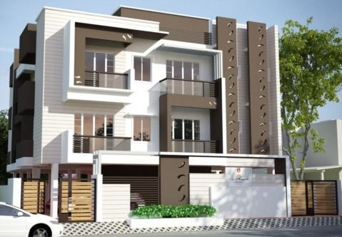 Elevations Of Residential Buildings In Indian Photo Gallery Google Search Minimalist House Design House Front Design Apartment Architecture