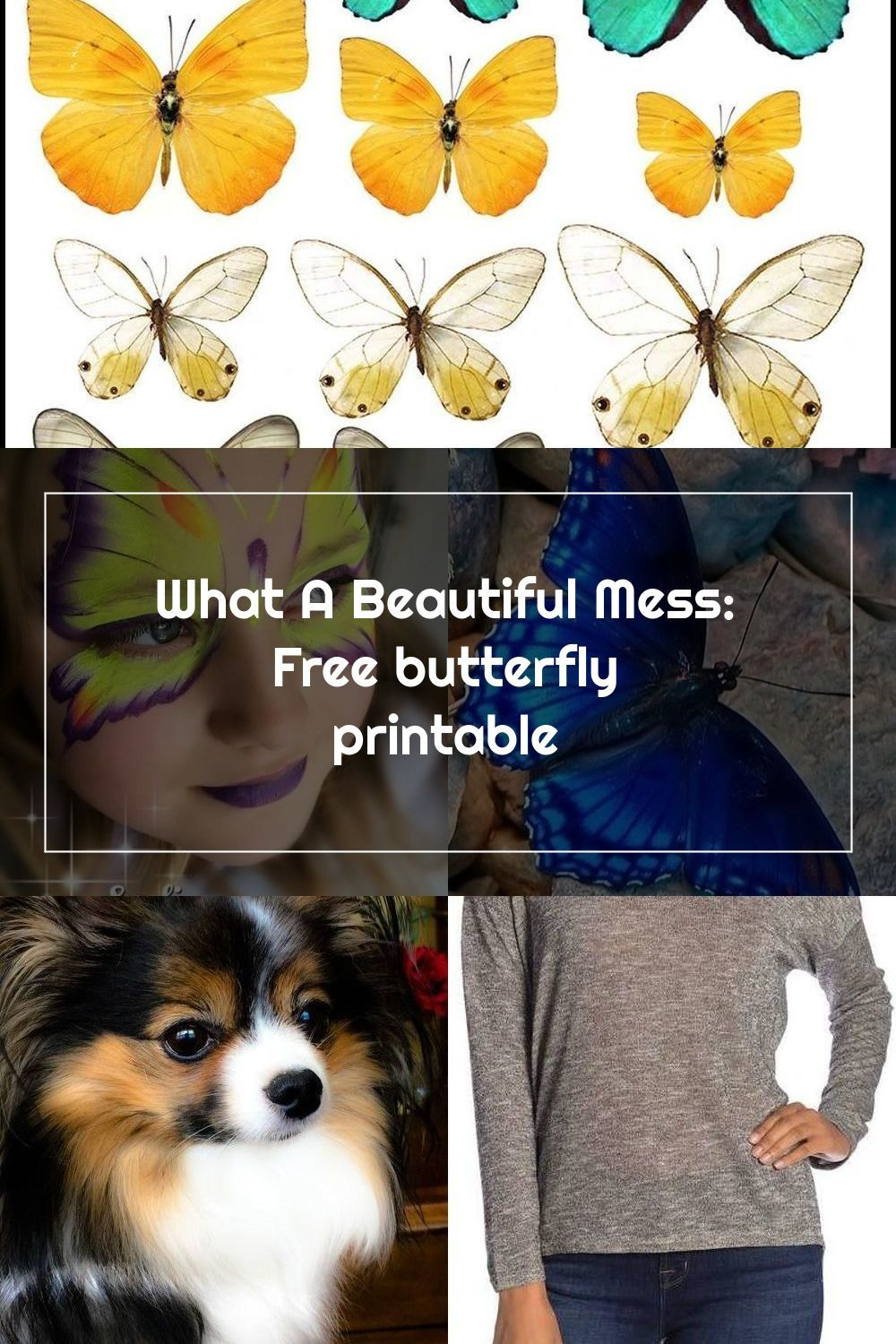 What A Beautiful Mess Free Butterfly Printable Printables Handicra