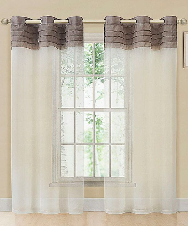 Look what I found on #zulily! Taupe & Beige East Gate Pleated Voile Curtain Panel by Victoria Classics #zulilyfinds