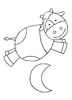 Cow Jumping Over Moon Coloring Page Sketch Coloring Page Moon