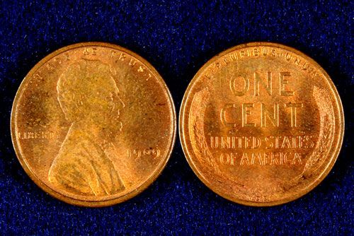 .01 1909 UNC VDB Lincoln Cent