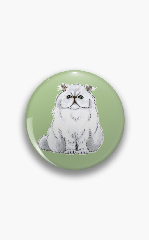 Persian cat Pin by @savousepate on Redbubble #findyourthing #cat #persiancat #persian #angoracat #whitecat #catlovers