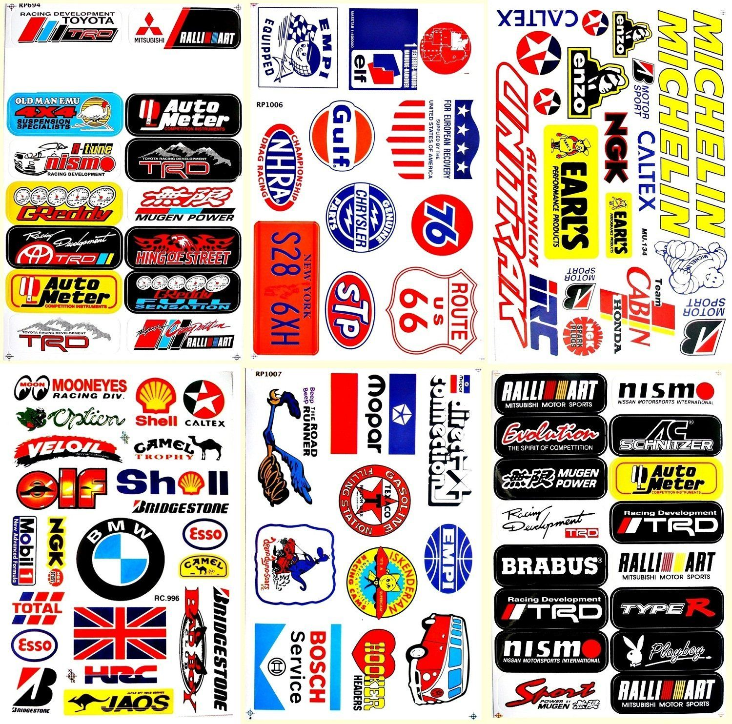 Amazon com cars mopar bmw stp nascar drag racing lot 6 vinyl decals stickers d6051 arts crafts sewing