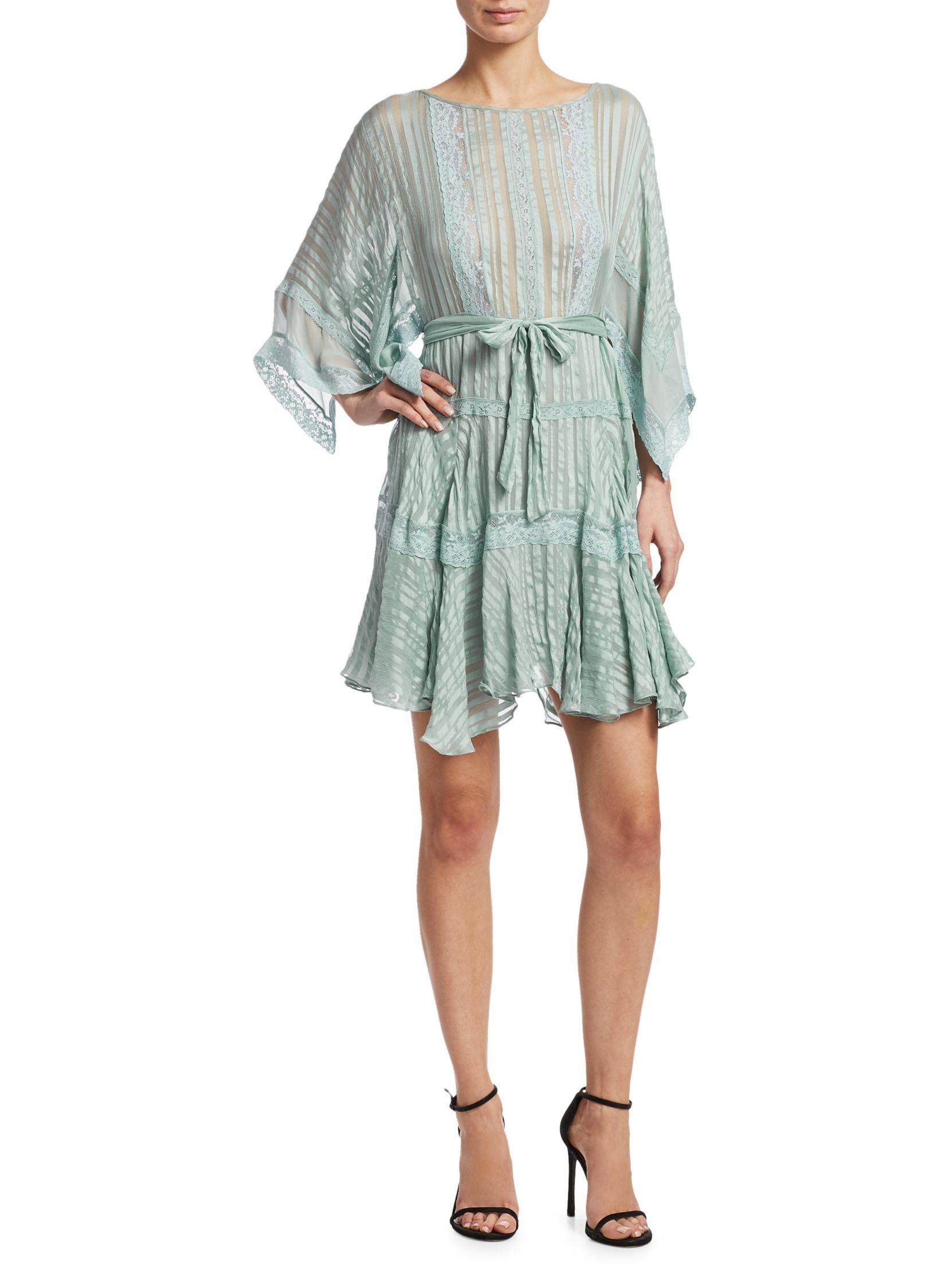 Breeze Wrap Mini Dress in Green Zimmermann Best Prices Cheap Online UVMxF2
