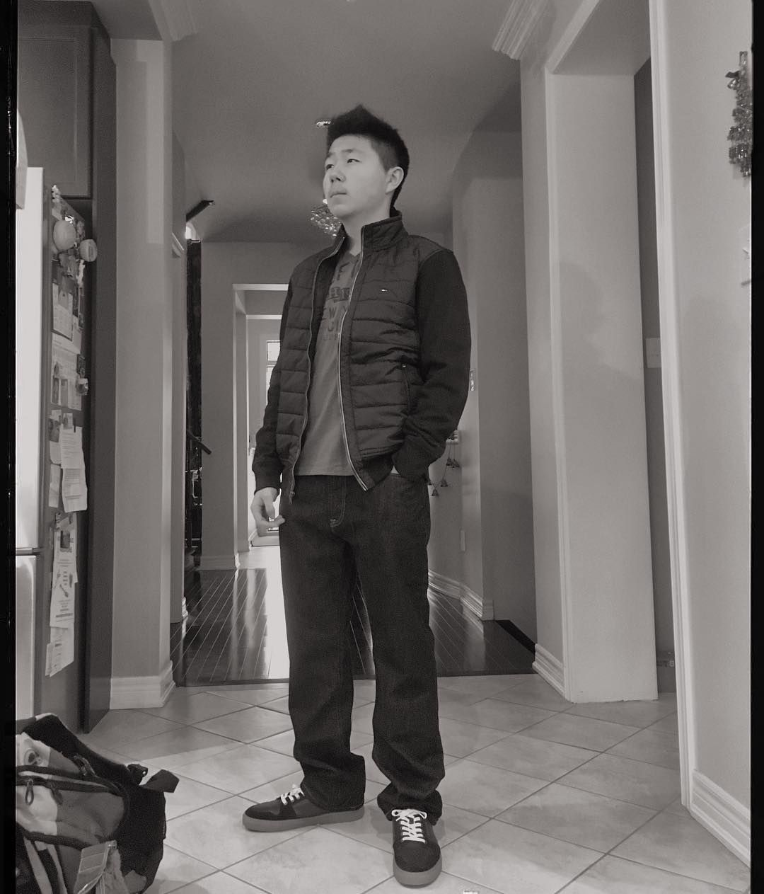 My brother looking so cool in his new outfits