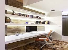 floating shelves in office - Google Search