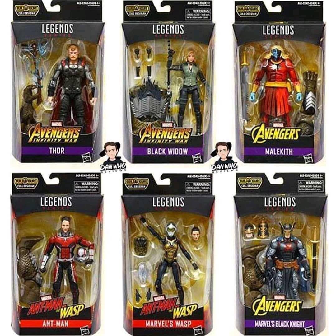 Marvel Legends Black Widow Action Figure 6-Inch Cull Obsidian BAF Infinity War