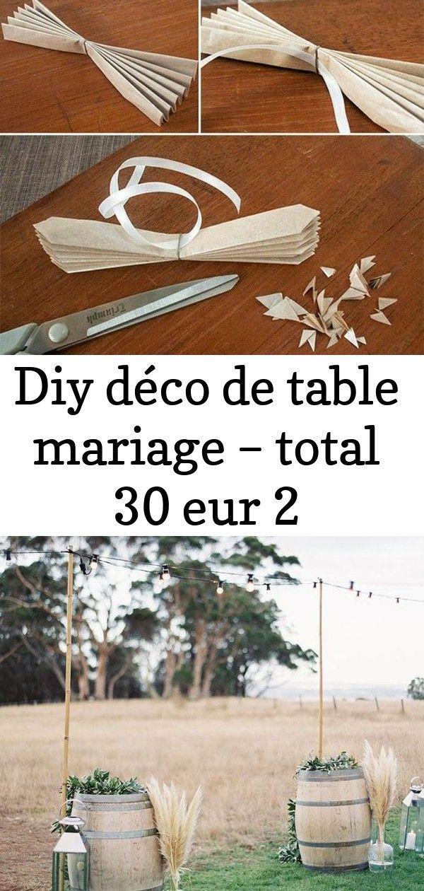 Diy déco de table mariage  total 30 eur 2 DIY déco de table mariage  total 30 EUR   LHerbe de la Pampa version déco de garden party Rustic outdoor wo...