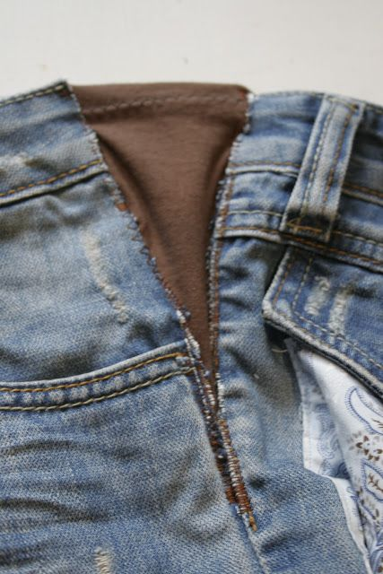 Recycled Fashion: Expanding the Waistline of Jeans or Trousers - with this method I would use elastic for jeans & heavy fabrics and jersey for dress pants or skirts.