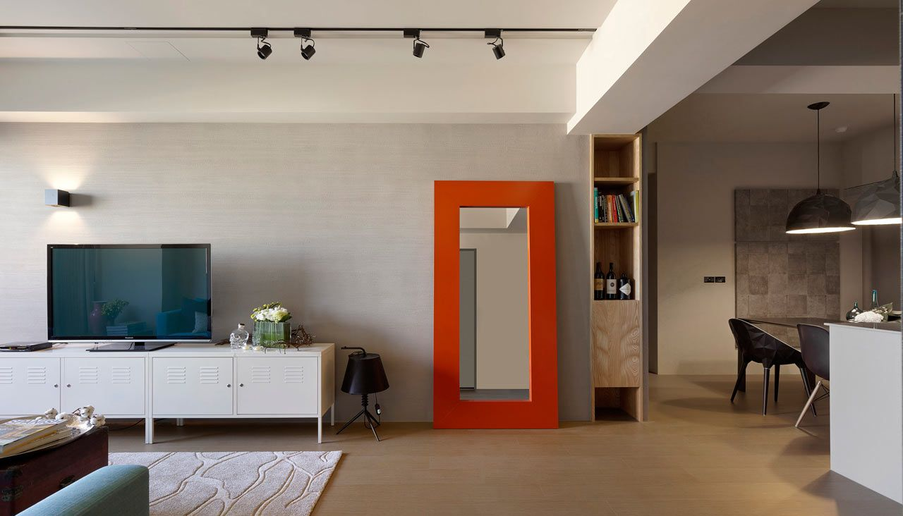 Minimally Designed Apartment With Punches Of Color Minimalist - Apartment soft minimalist decor