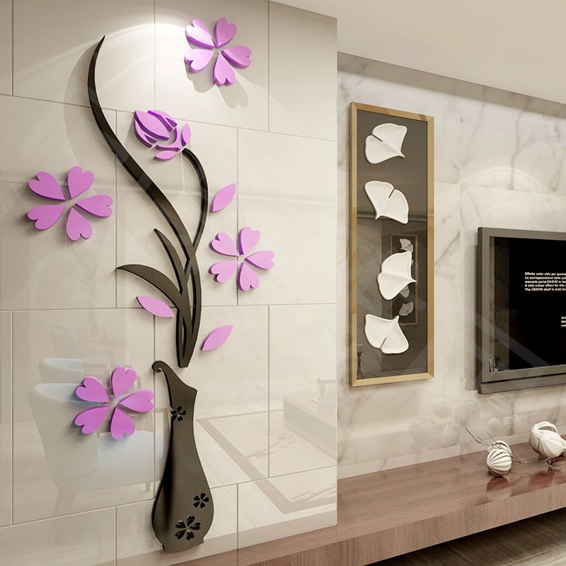 Best Large 3D Mirror Flower Decal Wall Sticker Removable Art 640 x 480