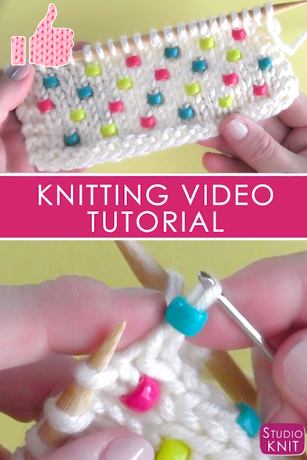 Knit Beads Into Any Project #knitting
