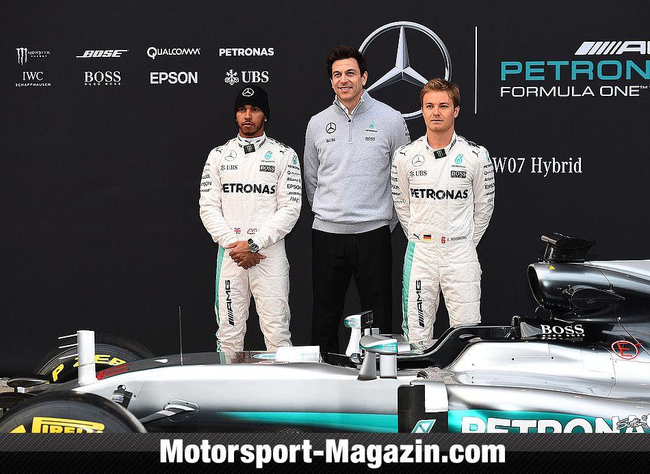 Formel 1 2016, Präsentationen, Lewis Hamilton, Mercedes AMG, Bild: Sutton
