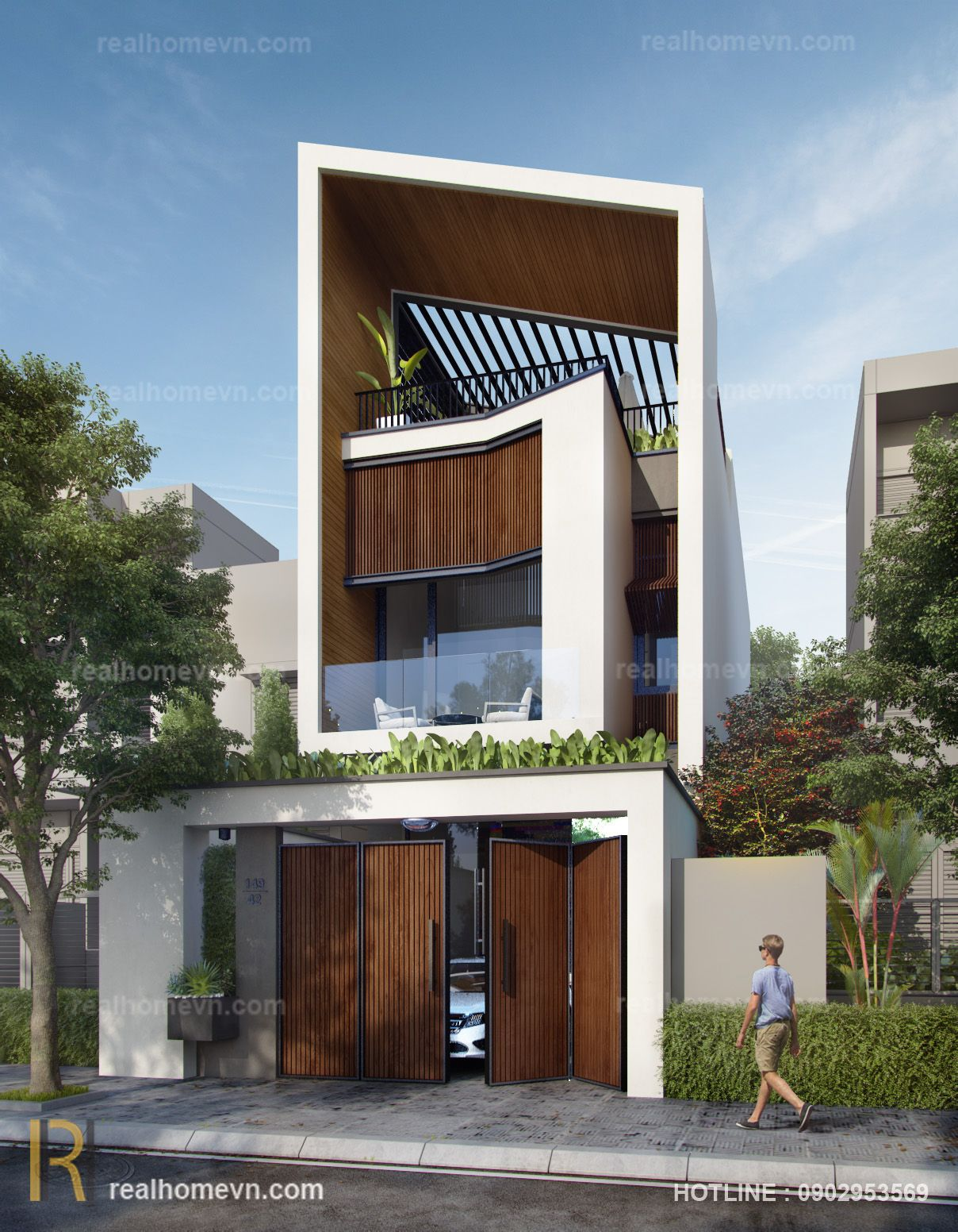 Check out this behance project modern house qu ng ngaivi  nam also modernes schmales hausdesign pinterest architecture rh