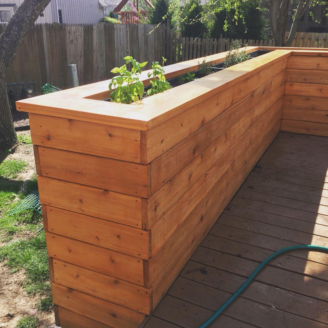Deck Planter Backyardigans Planters Railing