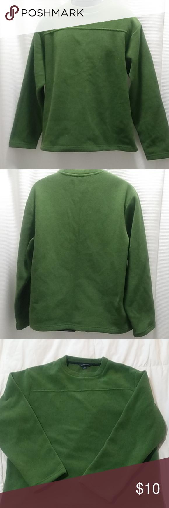 Lands End Men S Fleece Pullover Sweatshirt L Sweatshirts Mens Fleece Fleece Pullover [ 1740 x 580 Pixel ]