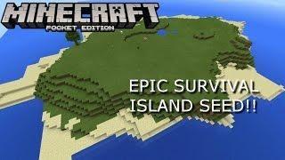 BEST SURVIVAL ISLAND SEED EVER!! Minecraft PE 1 0 8 Seed