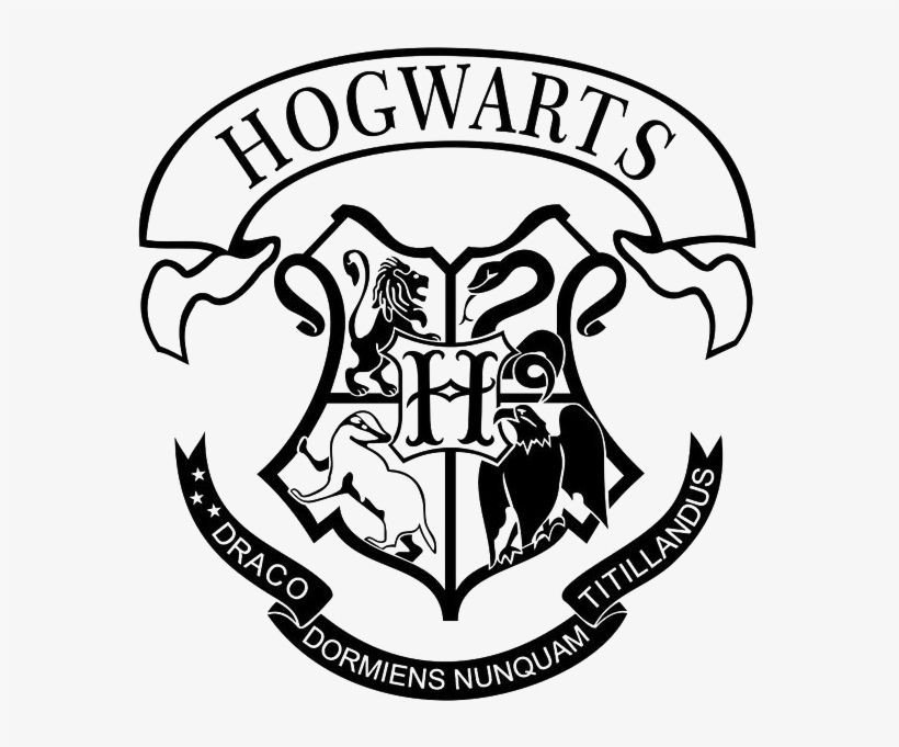 Download Hogwarts Logo Png Image Free Download Hogwarts Crest Printable Black And White For Free Nicepng Provide Hogwarts Crest Hogwarts Hogwarts Silhouette