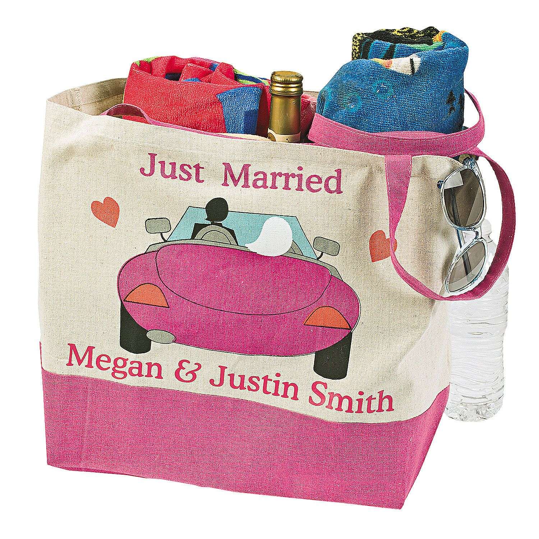 Personalized Honeymoon Beach Tote - OrientalTrading.com | Wedding ...
