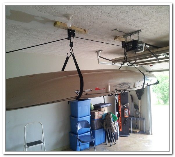 Diy Overhead Garage Shelf: Diy Overhead Garage Storage Pulley System