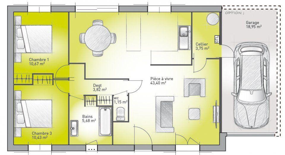 Plans de maison à construire  Accesso Terrazza 78-2 de Maisons