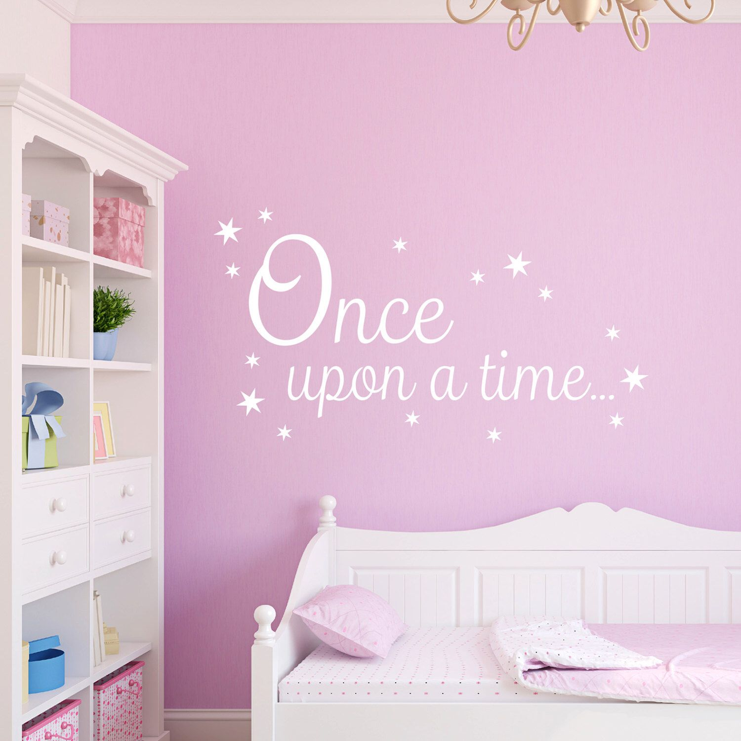 Once Upon A Time Decal Book Corner Quote Vinyl Wall Sticker By - Vinyl wall decals books
