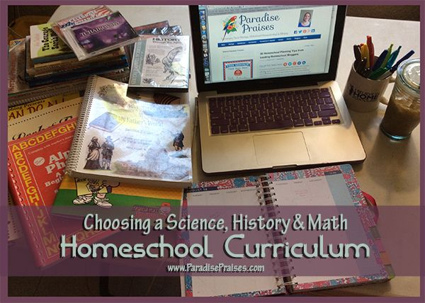 Science History Math Curriculum for Homeschool #sciencehistory