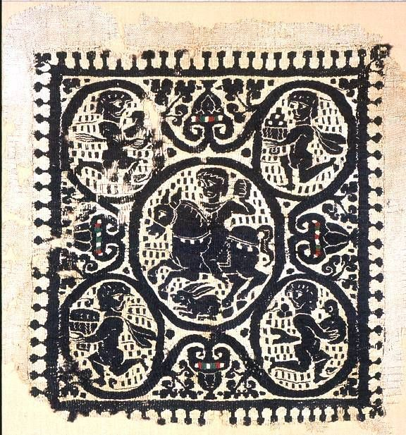 Coptic textiles from ancient Egypt  #globaltextile